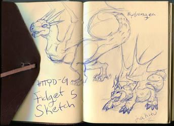 Dragon Grounds Fidget Sketch 5 by BladeGunSniper