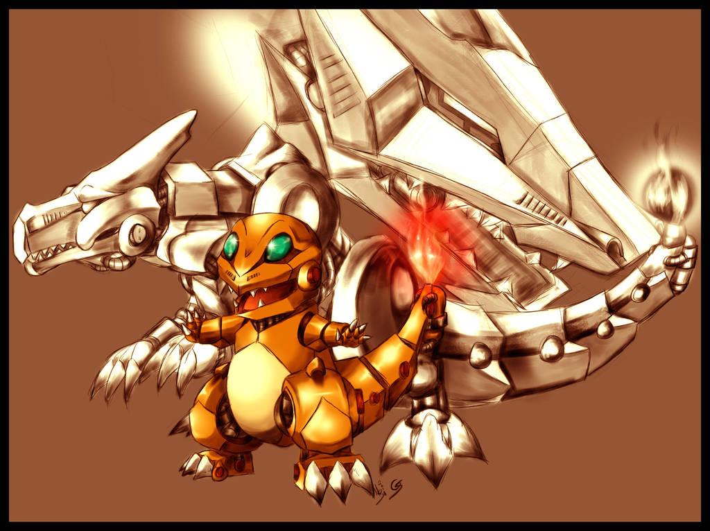 Pokemon-ZOIDS: CharLine by BladeGunSniper