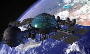Space Station by d4rkness-m4ster