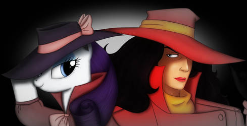 Rarity and Carmen Sandiego - Femme Fatale by Gennbu
