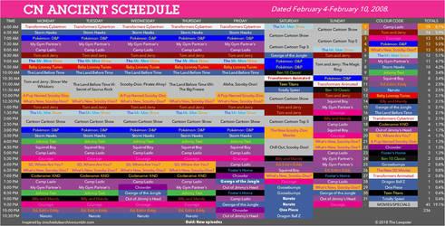 Cartoon Network 2008 Schedule: 02/04-02/10 by TheOfficialLewpster