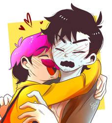 Hug by hujikari