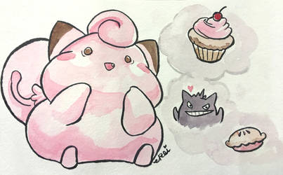 Fat Clefairy 2 by evikted