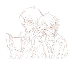 LineArt (Nobuchika Ginoza and Fushimi Saruhiko) by Kryhelis