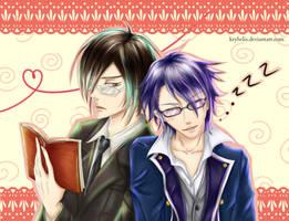 Crossover (Nobuchika Ginoza and Fushimi Saruhiko) by Kryhelis