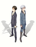 Rivaille and L-elf by Kryhelis