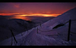 Karkonosze Mountains by night8 by PawelJG