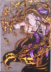 Ren Kouen- Flame Emperor by Assink-art