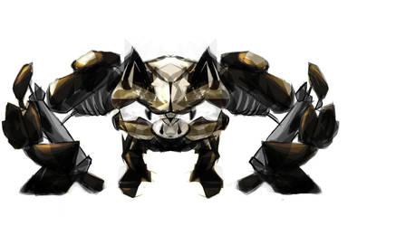 Robot Primeape by oO-sam-Oo