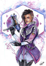 [OW] Watercolor project - Sombra by HanzuKing