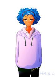 blue-curly hair tay by fushina