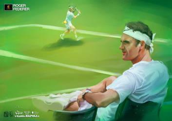 Federer a Wimbledon - Stampe d'Autore #18 by GGSTUDIO