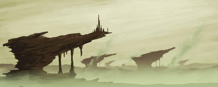 Poisoned Landscape Speedpaint by VonStreff