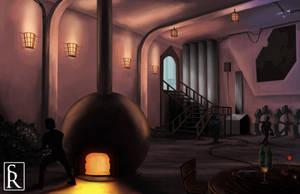Steampunk Airship Engine Room by VonStreff
