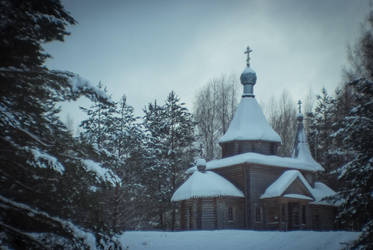 Church in forest by erynrandir