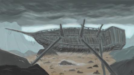 Shipwreck by wildspark