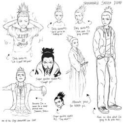 Sketch dump -- Shikamaru by one-of-the-Clayr