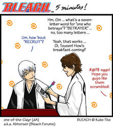 BLEACH Breakfast with Aizen by one-of-the-Clayr
