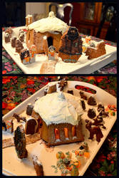 Hagrid's Hut Gingerbread House by tigerlily003