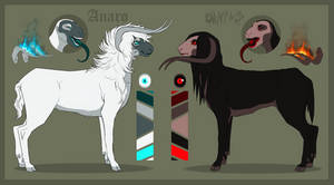 Immortal! Anaro and Ornias reference sheet WIP by Ziboe