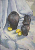 Lemons and black jugs by KonaRos