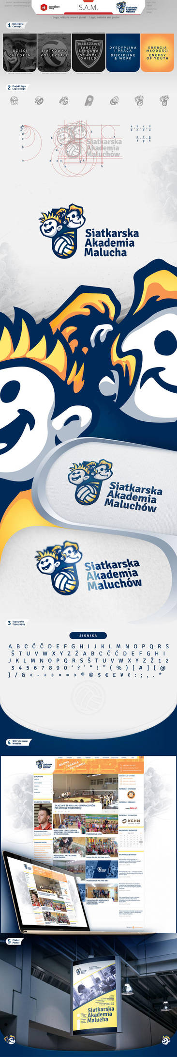 Volleyball Children Academy -Logo, website, poster by KonaRos