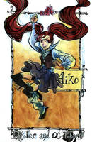 Inktober 07 - Aiko by Arkanth