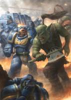 Ultramarine vs Ork by concubot