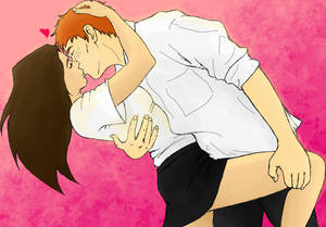 Ron and Hermione - Smooch! by shango266