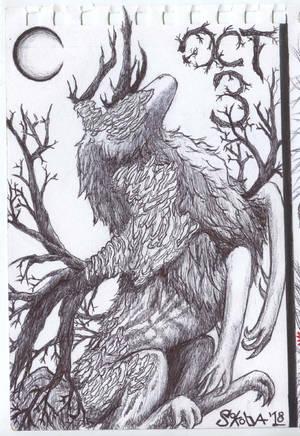 INKTOBER Day 3: Hart of Rot by Sokolva