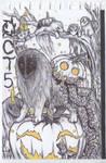 INKTOBER Day 5: Lights in the Pumpkin Patch by Sokolva