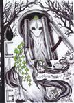 INKTOBER Day 6: Chime in the Garden of Broken Eggs by Sokolva