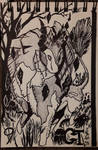 INKTOBER Day 9: The Field of Levitating Stones by Sokolva