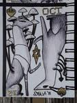 INKTOBER Day 12: Ace of Shrooms Shrine of Cards by Sokolva