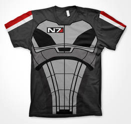 Mass Effect inspired T Shirt Print by r3d5unz