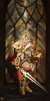 Blood Elf paladin by SugarBorn