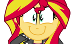 Sunset Shimmer ~FlutterShy big smile~ by HannaH-Joy64