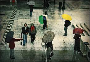 Paraguas al metro by dafni