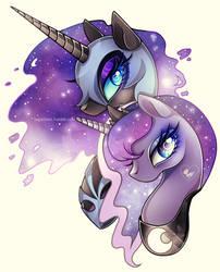 Princess Luna and Nightmare Moon by Sugar-Deer