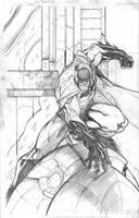 Batman random action pose by jpm1023