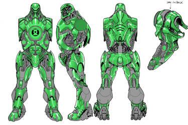 Green Lantern toy turns! Stel by jpm1023