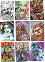 Starw Wars Galaxies Sketch Cards 2 by C-McCown