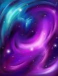 Colliding Galaxies by Ethril-Dragon