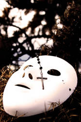 mask and rosary by Baby-Its-Brutal