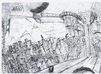 Neo City Drawing - 2 by tekmon1980