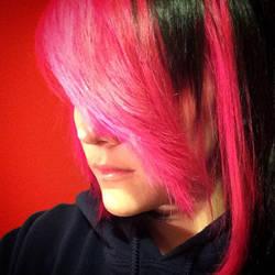 My Pink Hair!! by ash-podsolnechnik