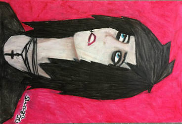 Andy Biersack portrait by ash-podsolnechnik