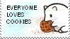[stamp] Fox - Cookie lovers by PizzaFisch