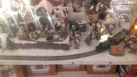 model christmas houses 5 with train by oliverabsol