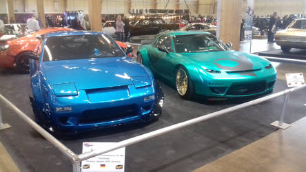 Nissan 240sx and Mazda RX7 by oliverabsol